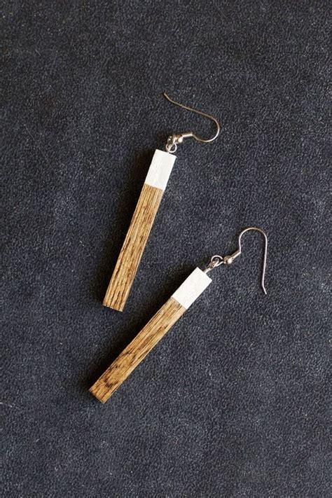 diy wood earrings     great christmas gift
