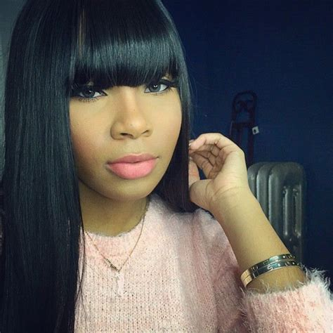 Sew In Hairstyles With Bangs by Im Thinking For New Hairstyle But Idk I