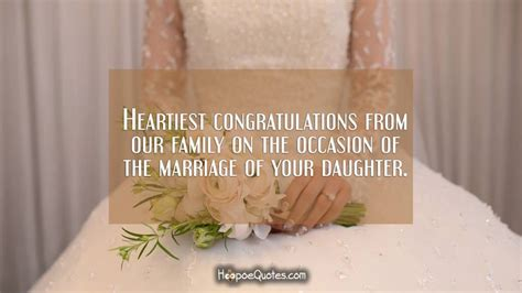 heartiest congratulations   family   occasion   marriage   daughter