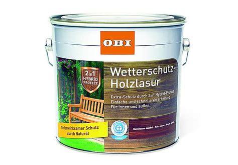 Weiße Lasur Für Holz by Holz Lackieren Lasieren Und 246 Len Der Obi Ratgeber
