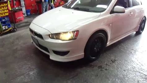white mitsubishi lancer with black rims hillyard custom rim tire mitsubishi lancer gt 18 inch matt