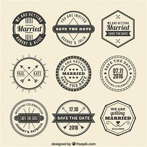 Retro wedding badges Vector   Premium Download