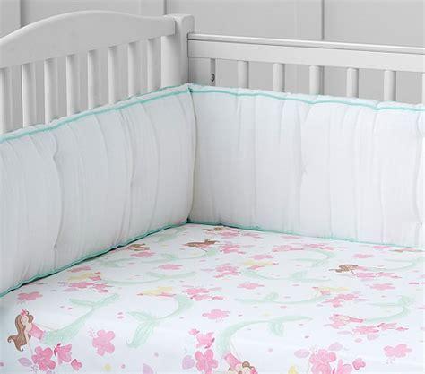 mermaid crib bedding mermaid crib fitted sheet pottery barn