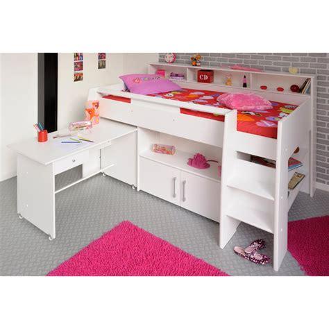 lit sureleve avec bureau lit combiné surélevé avec bureau et rangement intégrés 1