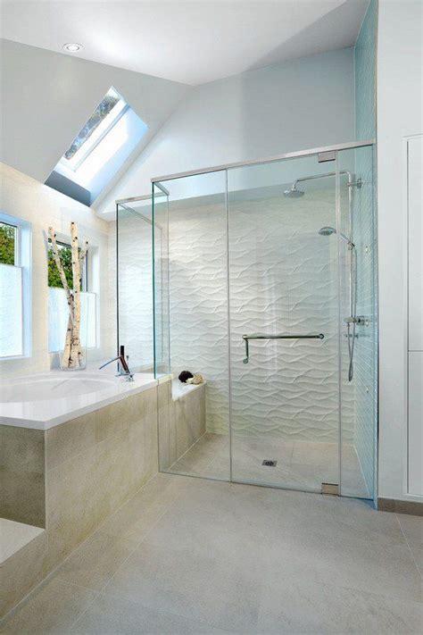 Contemporary Bathroom Tile Ideas by Tiled Showers Ideas White Wave Tile Contemporary Bathroom