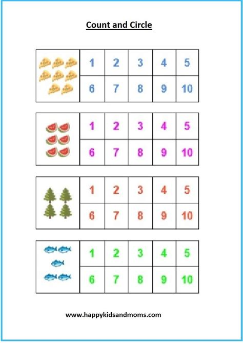 free pre k math counting worksheets 1 happy kids and moms