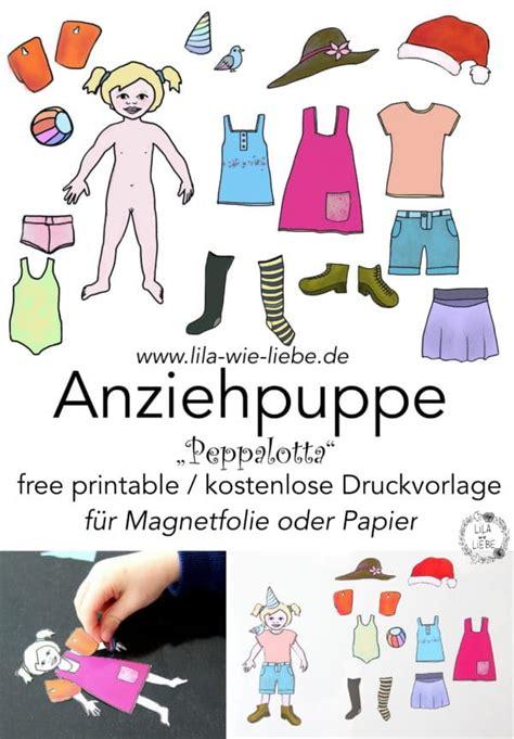 anziehpuppe kostenlose druckvorlage handmade kultur