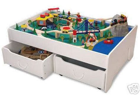 brio train table with drawers kidkraft train table trundles drawers thomos brio new