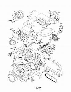 Weslo Model 831216110 Cycle Genuine Parts