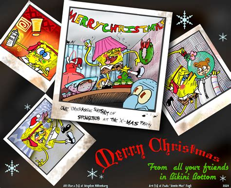 spongebob at the christmas party i ve always wondered what that