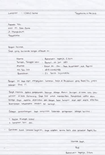 Contoh Lamaran Kerja Cpns Ristek Dikti by Contoh Surat Lamaran Kerja Tulis Tangan Terbaru 2018