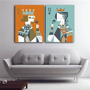 Queen king of home decor canvas painting wall art