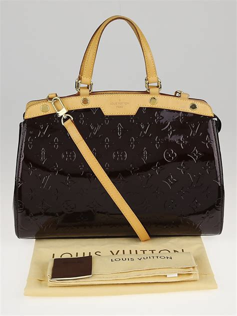 louis vuitton amarante monogram vernis brea mm tote bag