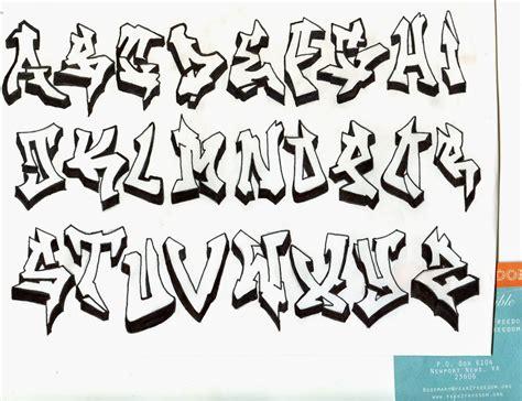 Graffiti A-z : Graffiti Alphabet Block Letters A-z 3d