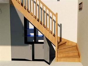 Aménagement Sous Escalier : am nagement sous escalier quart tournant partie 2 ~ Preciouscoupons.com Idées de Décoration