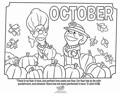 Coloring October John Pages Bible Fear Printable