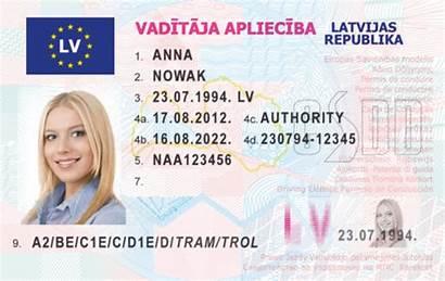 Latvian Licence Driving Lt Cart Pj Av