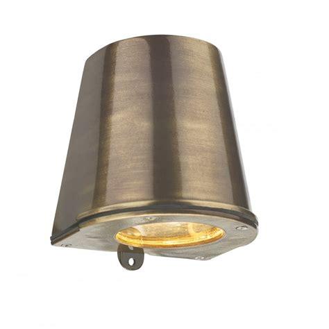 led cast brass flush fitting wall light ip44 safe for use