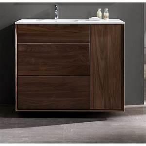 Meuble Vasque 100 Cm : meubles avec simple vasque meuble pour salle de bain en ~ Edinachiropracticcenter.com Idées de Décoration