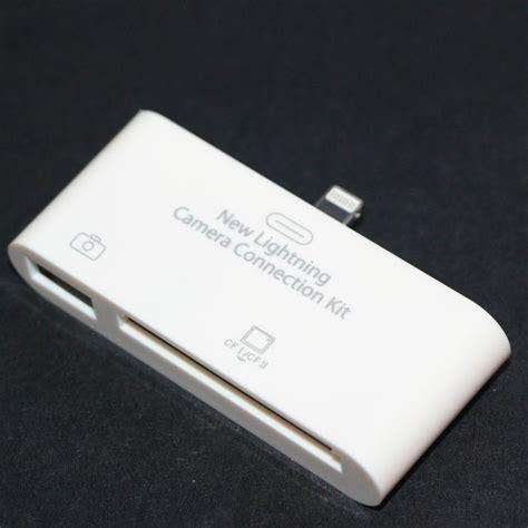 lightning kit lightning usb otg connection kit cf card reader for