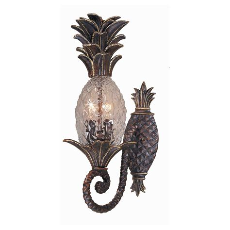 new 2 light pineapple outdoor wall mount fixture