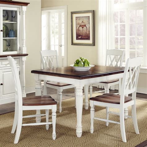 white and oak dining table set shop home styles monarch white oak 5 piece dining set with