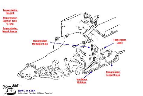 Corvette Transmisson Coolant Lines Parts