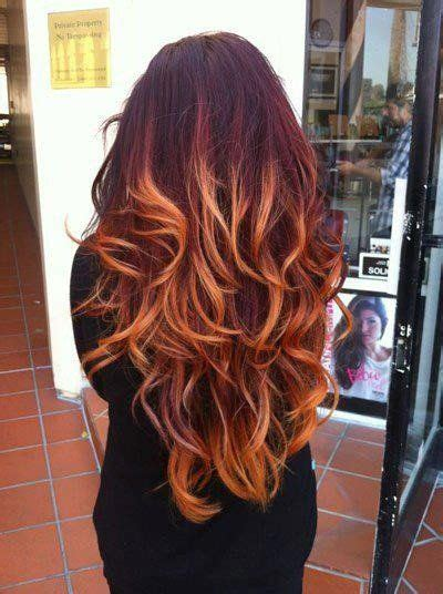 Red Ombre Hair Color Combinations Hair Ideas Hair