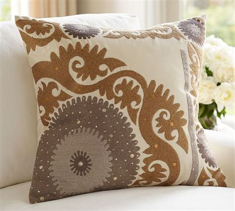 Pillows At Pottery Barn by Metallic Suzani Pillow Cover Pottery Barn