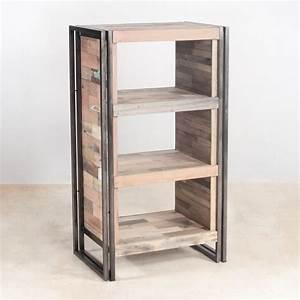 Petite Etagere Bois : petite tag re bois recycl 4 plateaux 60x107 caravelle ~ Teatrodelosmanantiales.com Idées de Décoration