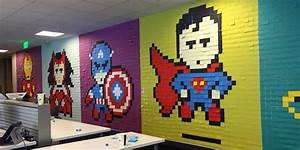 Employees Use Post Its To Turn Boring Office Into Colorful