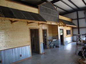 texas rustic kitchen ideas how did you trim your With metal garage interior wall ideas