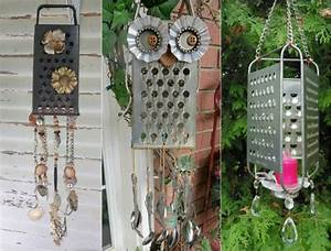 Windspiele Für Den Garten : ausgefallene gartendeko selber machen aus alten k chenutensilien ~ Bigdaddyawards.com Haus und Dekorationen