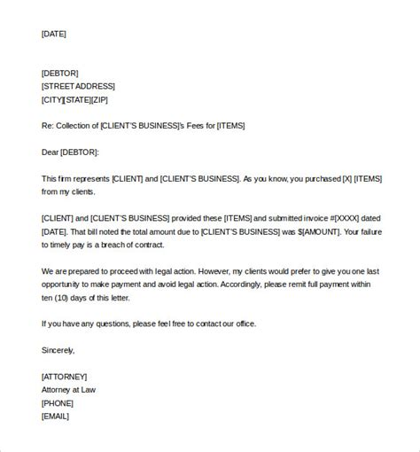 letter of demand 7 demand letter templates free sle exle format