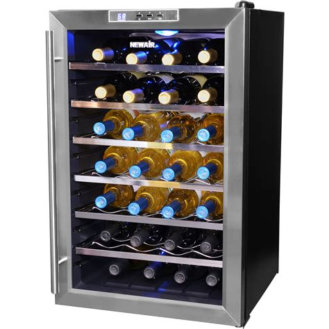 thermoelectric wine cooler newair aw 281e 28 bottle thermoelectric wine cooler