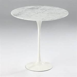 Table Ronde En Marbre : table en marbre ronde webb noir ou blanc ~ Teatrodelosmanantiales.com Idées de Décoration