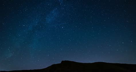 Shooting Stars Over A Mountain Range Night Sky Time Lapse