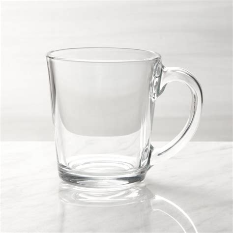 I only got 4 mugs because i am the only one who drinks coffee, and i wasn't in love with the aspen mugs. Moderno Coffee Mug + Reviews | Crate and Barrel | Clear glass coffee mugs, Glass coffee mugs ...