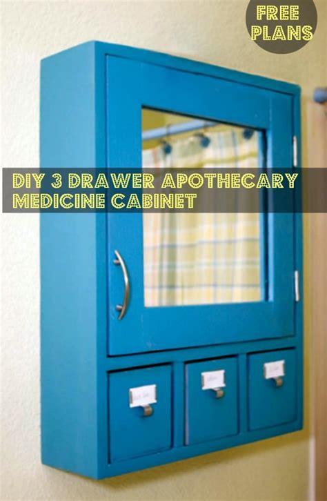 diy furniture plans  build   drawer medicine
