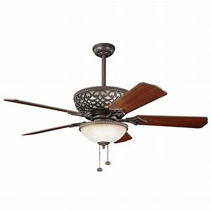 Kichler inch ceiling fan with integrated uplight