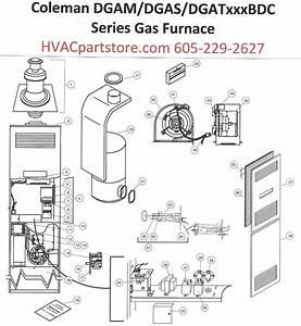 Dgat070bdc Coleman Gas Furnace Parts  U2013 Hvacpartstore
