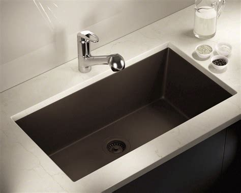 mocha large single bowl undermount trugranite kitchen sink