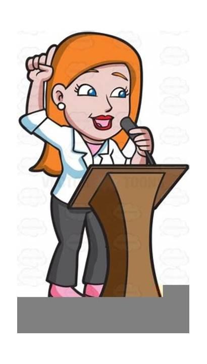 Clipart Preacher Clip Preaching Woman Vector Clker