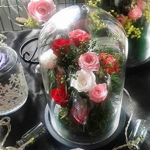 Grande Cloche En Verre : grande cloche verre 30cm mille et une roses ternelles ~ Teatrodelosmanantiales.com Idées de Décoration