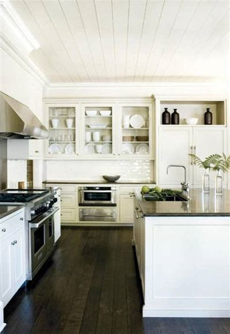 Cherry Cabinets Kitchen by 40 Dark Hardwood Floors That Bring Life To All Kinds Of Rooms