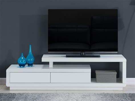 cuisine laque blanc meuble tv artaban 2 tiroirs mdf laqué 3 coloris