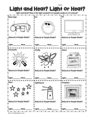 Energy Worksheet 1st Grade Livinghealthybulletin
