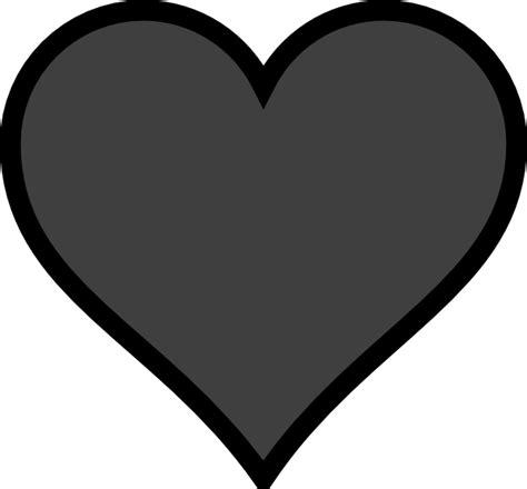 simple heart outline   clip art