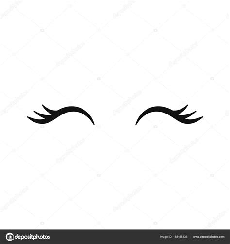 vector unicorn eyelashes vector unicorn eyelashes closed woman eyes vector icon stock