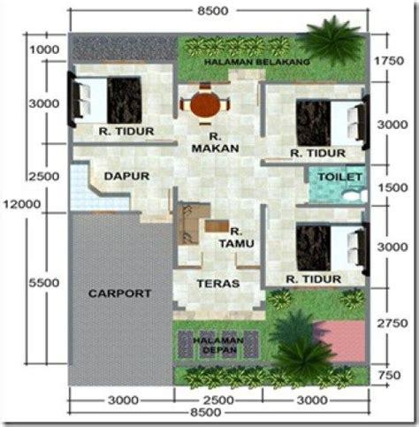 denah rumah minimalis  lantai  garasi rumah